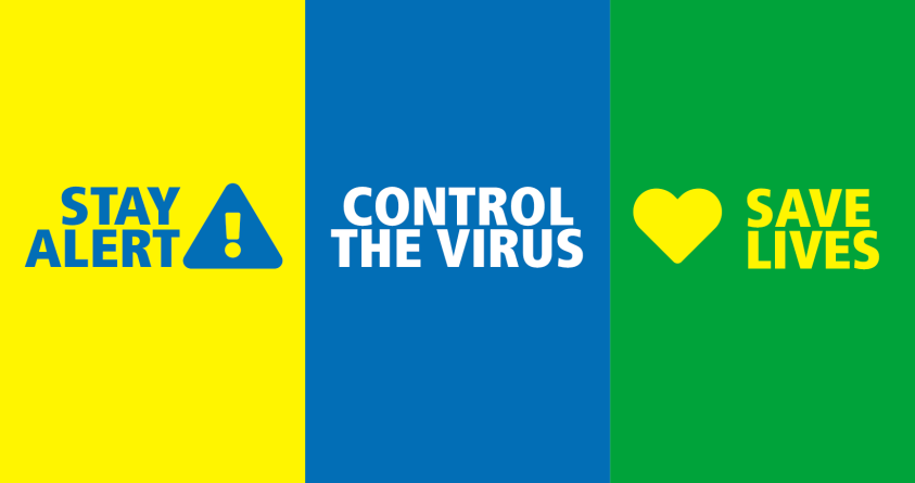 Stay alert, control the virus, save lives banner